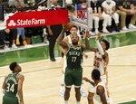 "NBA atkrintamosios: ""Bucks"" – ""Hawks"""