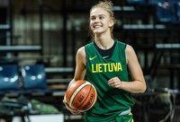 J.Jocytė debiutavo mače su Albanija (Krepšinio namų nuotr.)