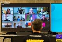 """""""Žalgirio"""" vykdomą socialinį projektą """"One Team"""" surengė nuotoliniu būdu  (www.zalgiris.lt nuotr.)"""