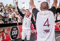 K.Lasmanis džiaugiasi pelnytai (FIBA nuotr.)