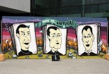 Graffiti piešinyje K. Kemzūra...