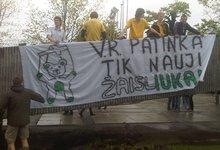 FBK fanų protestas