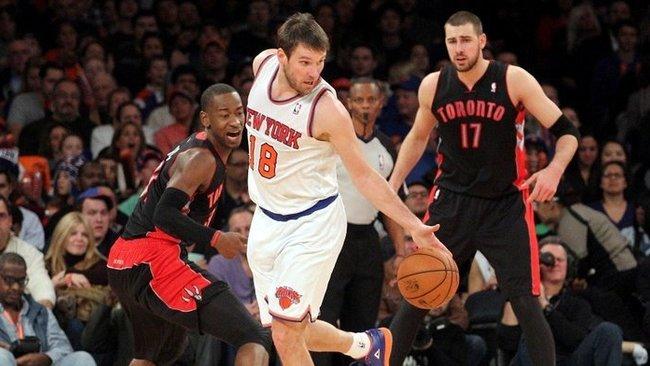 """B.Udrihas nėra patenkintas savo vaidmeniu """"Knicks"""" komandoje (Scanpix)"""