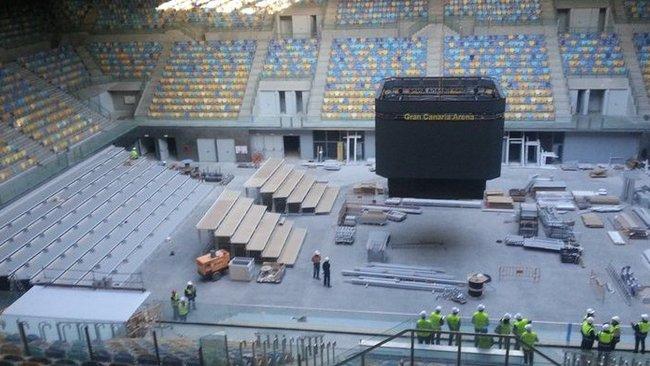 """Taip šiuo metu atrodo """"Gran Canaria Arena"""" arena (LKF nuotr.)"""
