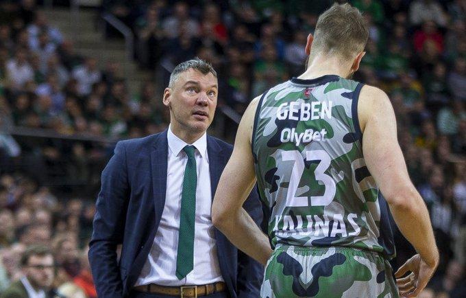 Š.Jasikevičius priminė žaidėjams, kad metas pamiršti praeities pergales (BNS nuotr.)