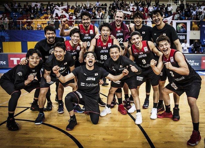 Japonijos rinktinė varžysis Olimpiadoje (FIBA nuotr.)