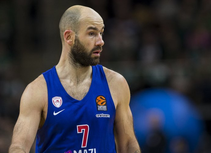"""V.Spanoulis lieka """"Olympiacos"""" klube (BNS nuotr.)"""
