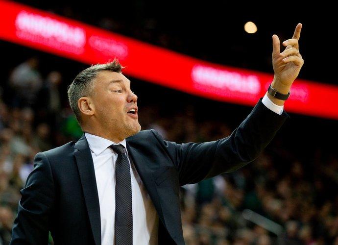 """Š.Jasikevičius apžvelgė laukiantį mačą prieš """"Valencia"""" (Scanpix nuotr.)"""