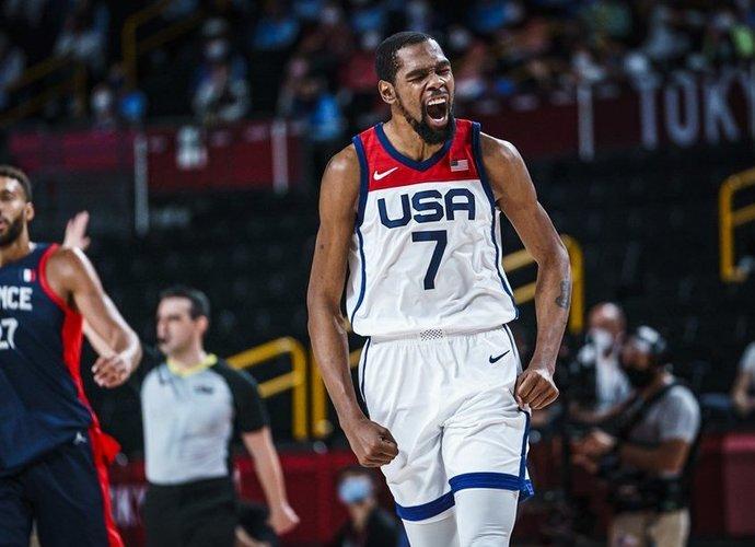 K.Durantas įtrauktas į simbolinį olimpiados penketuką (FIBA nuotr.)