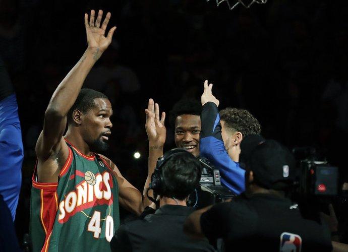 K.Durantas Sietle rungtyniavo pirmame savo karjeros sezone (Scanpix nuotr.)
