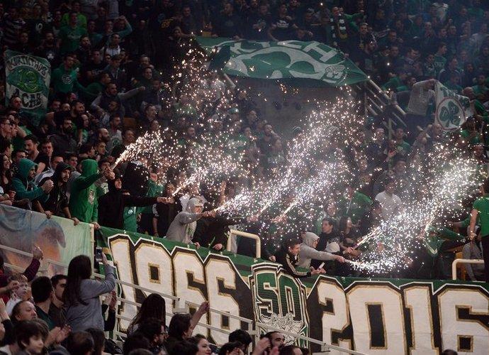 Panathinaikos sirgaliai savo klubui vėl uždirbo baudą (Scanpix nuotr.)
