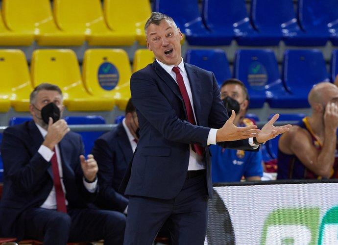 Š.Jasikevičius džiaugėsi pergale (Scanpix nuotr.)