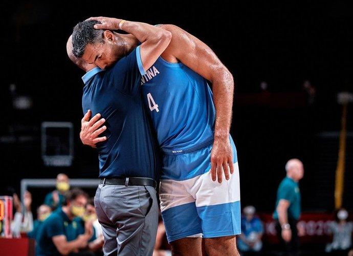 L.Scola sužaidė paskutines rungtynes rinktinėje (FIBA nuotr.)