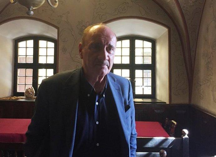 L.Capicchioni į Vilnių atvyko dėl susitikimo su žurnalistais (Krepsinis.net nuotr.)