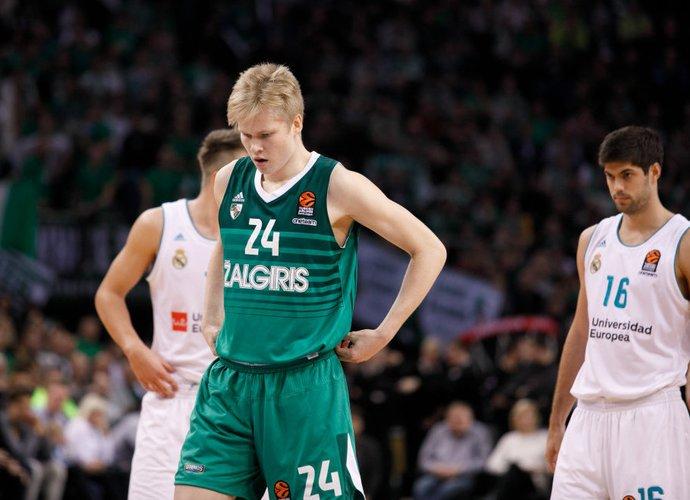 M.Arlauskas praeitą sezoną gavo progą debiutuoti Eurolygoje (BNS nuotr.)