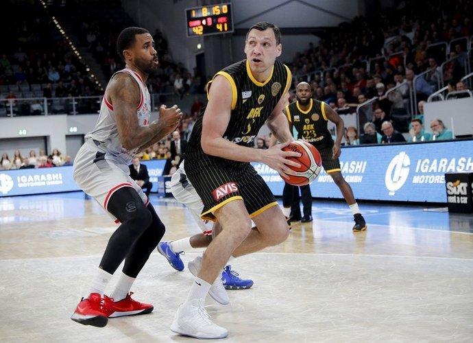 J.Mačiulis išnaudojo pražangų limitą (FIBA Europe nuotr.)