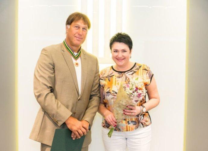 Š.Marčiulionis sulaukė apdovanojimų už 1996-ųjų pasiekimus (nuotr. Saulius Čirba)